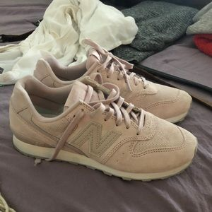 Light pink new balance sneakers